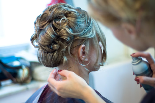 Creating that amazing wedding Hairstyle for your special day. Hair and Beauty Salon Newbury.